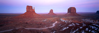 Monument Valley au coucher